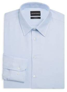 Emporio Armani Modern Fit Tonal Dot Dress Shirt