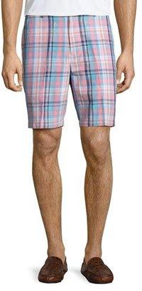 Peter Millar Manteo Madras Plaid Shorts, Pink/Blue $98 thestylecure.com