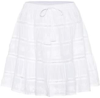 Melissa Odabash Anita embroidered cotton miniskirt