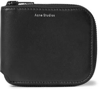 Acne Studios Kei S Leather Zip-Around Wallet