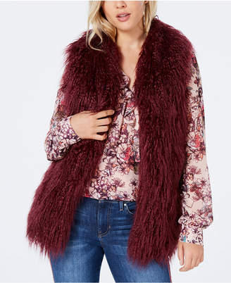 GUESS Jacquee Sleeveless Faux-Fur Vest