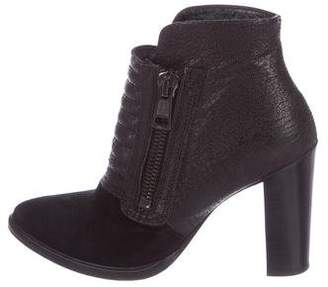 AllSaints Leather & Suede Booties