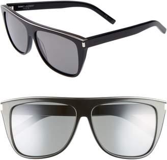 Saint Laurent Combi 59mm Flat Top Sunglasses