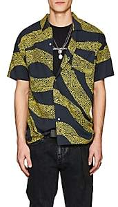 Double Rainbouu Men's Amnesia Abstract-Print Shirt-Black