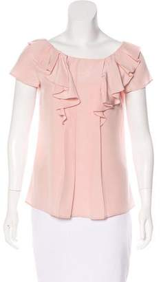 Prada Short Sleeve Ruffled Top