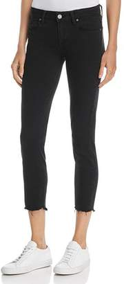Paige Verdugo Ankle Skinny Jeans in Black Super Distressed - 100% Exclusive