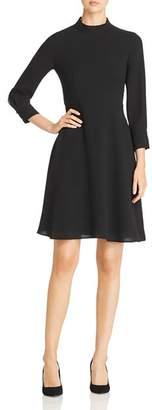 BOSS Hapinia Mock-Neck Dress