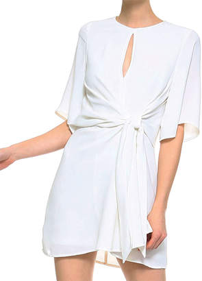 Olivia Pratt 1/2 Sleeve Tie-Waist Crossover Cocktail Dress