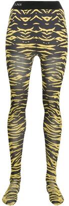 Laneus animal print tights