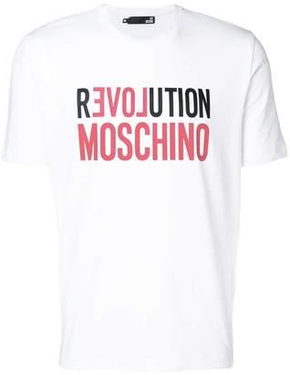 Love Moschino logo patch T-shirt