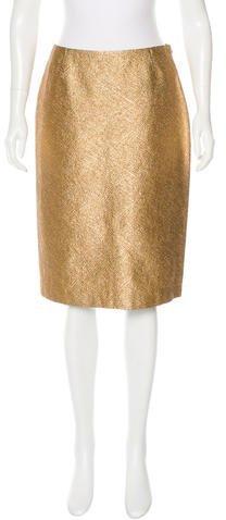 Michael Kors Metallic Pencil Skirt