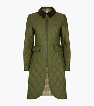 Burberry Long TB Monogram Quilted Riding Coat