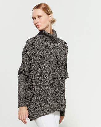 RD Style Cowl Neck Long Sleeve Dolman Sweater