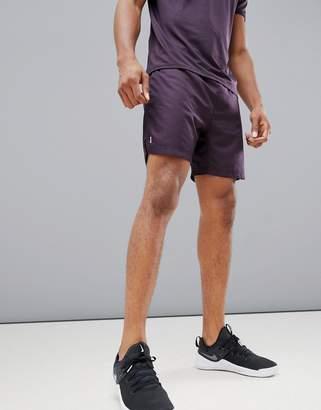 New Look SPORT running shorts in burgundy