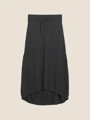 DKNY Wool Cashmere Midi Skirt