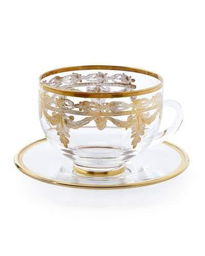 Arte ItalicaArte Italica Vetro Gold Cup and Saucer