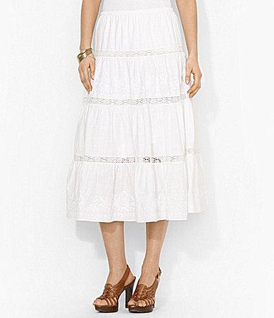 Lauren Ralph Lauren Crochet Cotton Skirt