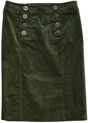 Gucci Green Velvet Skirts