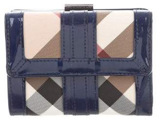 Burberry Leather-Trimmed Nova Check Wallet