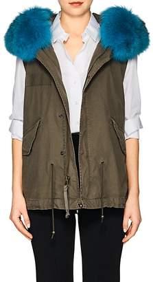 Mr & Mrs Italy Women's Fox-Fur-Trimmed Mini-Vest