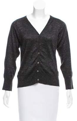 Etoile Isabel Marant Virgin Wool Metallic Cardigan