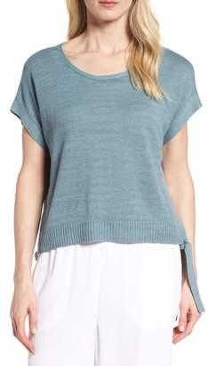 Eileen Fisher Short Organic Linen Poncho Top