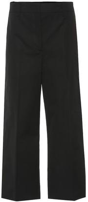 Prada Cropped high-rise cotton pants