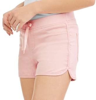 No Boundaries Juniors' Ribbed Waist Dorm Shorts (Up to 2XL!)