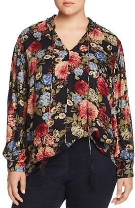 Seven7 Jeans Plus Floral Print Top