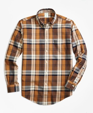 Brooks Brothers Non-Iron Milano Fit Bold Plaid Sport Shirt