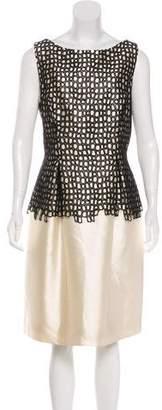 Lela Rose Satin Cocktail Dress