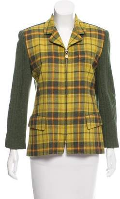Burberry Wool Plaid Jacket