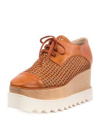 Stella McCartney Elyse Woven Platform Oxford, Canyon/Bourbon $1,065 thestylecure.com