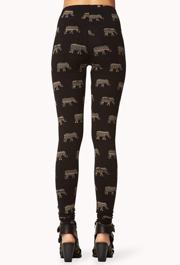 Forever 21 Elephant Print Leggings