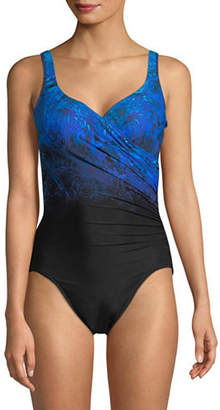 Miraclesuit One-Piece Gradient Print Swimsuit