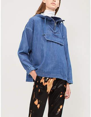 Closed Hooded denim jacket