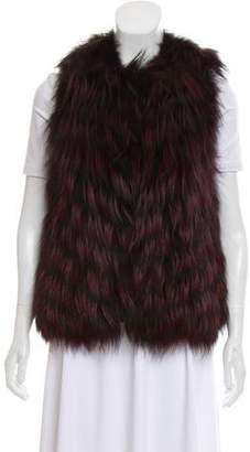 Haute Hippie Collarless Fur Vest