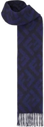 Fendi cashmere long FF logo scarf