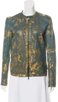 Giorgio Brato Painted Leather Jacket w/ Tags