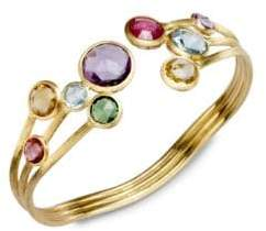 Marco Bicego Jaipur Semi-Precious Multi-Stone& 18K Yellow Gold Three-Row Cuff Bracelet
