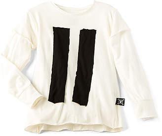 Nununu ストライプパッチTシャツ