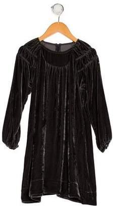 Marc Jacobs Girls' Velvet Long Sleeve Dress
