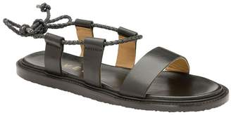 Ravel Womens Wrap Around Leather Sandals - Black