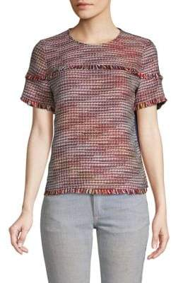 Laundry by Shelli Segal Boucle Tweed Top
