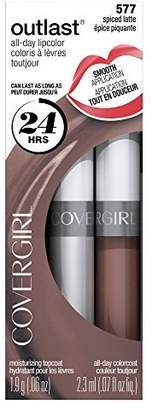 Cover Girl Outlast All-Day Moisturizing Lip Color, Spiced Latte .13 oz (4.2 g) by