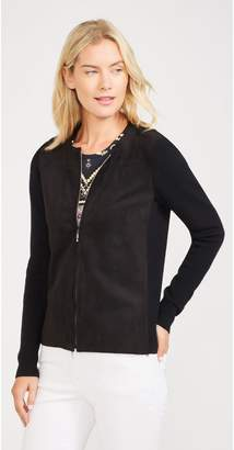 J.Mclaughlin Dorine Cardigan in Faux Suede