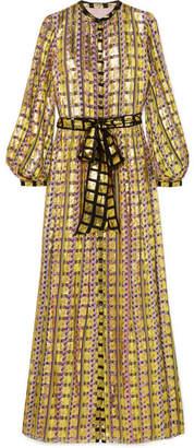 Temperley London Printed Fil Coupé Maxi Dress - Gold
