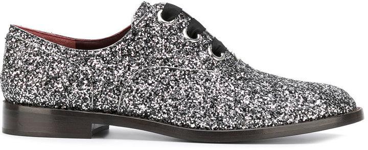 Marc JacobsMarc Jacobs glitter embellished Oxford shoes