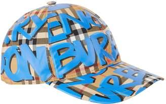 Burberry Graffiti Vintage Check Baseball Cap
