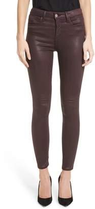 L'Agence Margot High Waist Glitter Coated Jeans